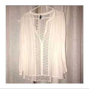 ⏰SALE⏰ H&M Beautiful sheer button up blouse